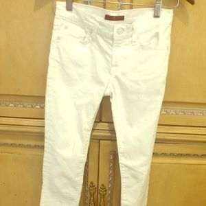 Girls 7 for all Mankind white jeans
